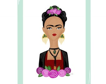 "Frida 8"" X 10"" Art Print"