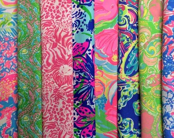 Pick Your Lilly Pulitzer Fabric Cat Collar- Custom Breakaway Safety Buckle