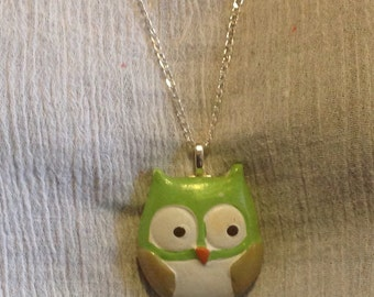 925 Sterling Silver Necklace Owl- Necklace-Handmade Jewellery- Unique Jewellery.