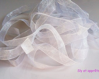 3 m white 10mm organza Ribbon