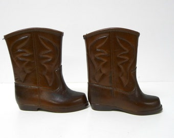 Cowboy boots  . Waterproof rubber shoes . kids size 6 . made in USA