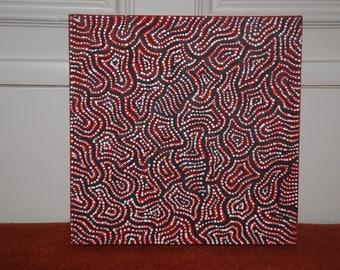 Nathania Granites NANGALA - pointillist Aboriginal painting