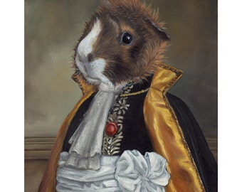 Guinea Pig Prints, Lord Basil, Guinea Pig in Clothes, Guinea Pig in Costume