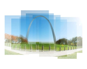 St. Louis Arch - photograph, panorama, travel photography, wall art, Gateway Arch, Missouri art, St. Louis art, St. Louis print, Saint Louis
