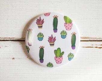 Cactus Pocket Mirror 77mm - Stocking Filler***