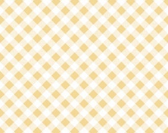 YELLOW Gingham by Riley Blake, 100% Cotton, YELLOW Check