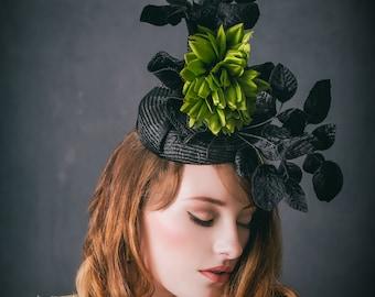 Black and Green Hat Hatinator Fascinator