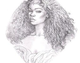 Daughter of the Sea ORIGINAL Drawing