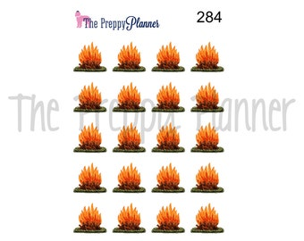 BONFIRE FALL Planner Stickers for ALL  Planner Types #284