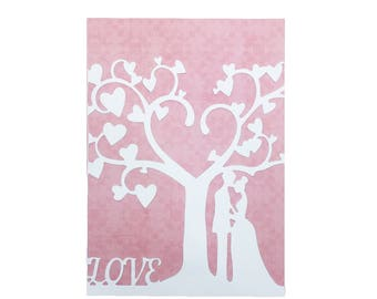 Wedding Card, Wedding Greeting Card, Wedding Greeting Cards to the Couple, Engagement Card, Congratulations Wedding Card Valentines Day Card