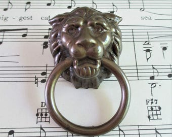 Vintage Little Lion Head Pull