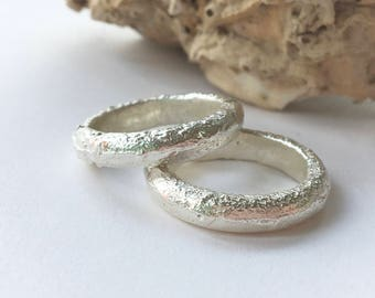 Chunky Sand Cast Ring Bands