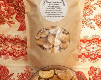 Cheesy Sweet Potato with Crickets grain free dog cookies