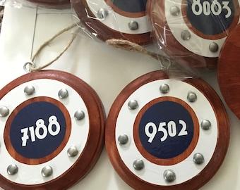 Cruise Ornament-  Personalized Stateroom Porthole, Fish extender gift