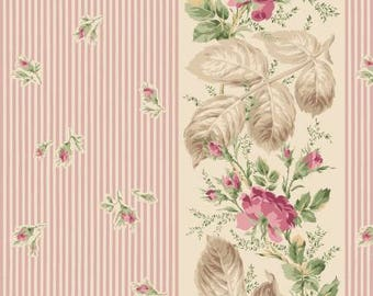 Victorian Rose RURU by Quilt Gate Rose Stripe in Pink RU2320-11B  Choose your cut  YES!! Continuous fabric cuts & combined shipping