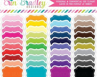 80% OFF SALE Colorful Clipart Frames, Commercial Use Clipart Labels with Drop Shadow, Clip Art Frame Bundle