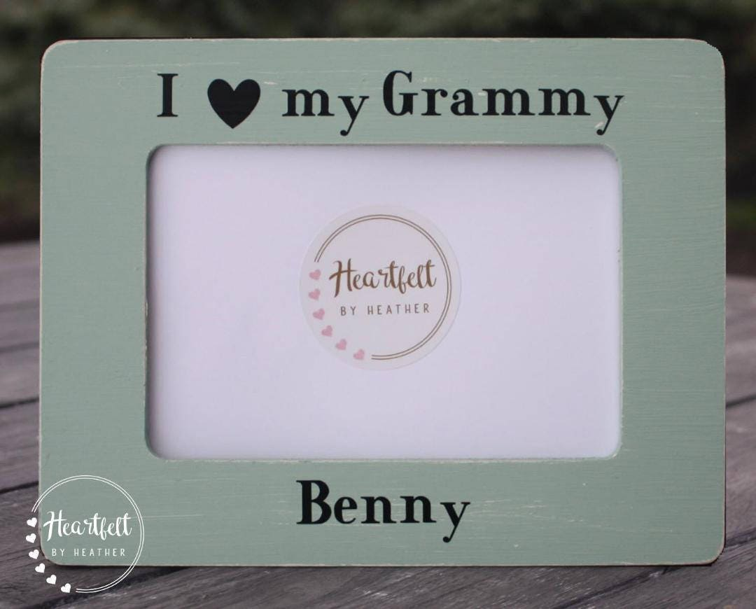 I Love My Grammy Wood Picture Frame 4x6- Nana Gifts Personalized ...