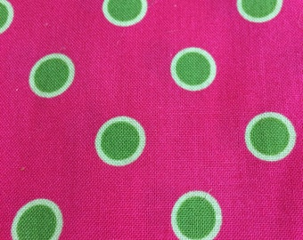 Pink with Green Polka dot