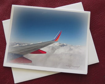 Aviation Note Card Bon Voyage Note Card 4.5x5.5 Note Card Free US Shipping MVMayoPhotography
