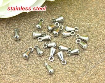 50 pcs of Stainless Steel drop pendant,Teardrop pendant,small drop pendant,end of the extended chain