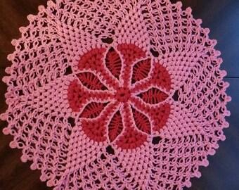 Crochet Doilies (Pink)