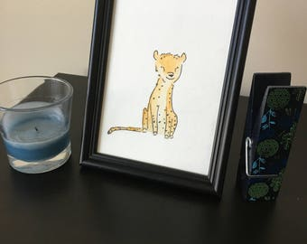 Nursery Cheetah 5x7 Watercolor