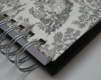 Pocket Size - Gratitude Journal - Grateful Journal - Daily Gratitude - Thankful Journal - Year Journal - 1 year - Mini Journal - Black Toile