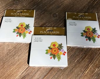Vintage Floral Place Cards