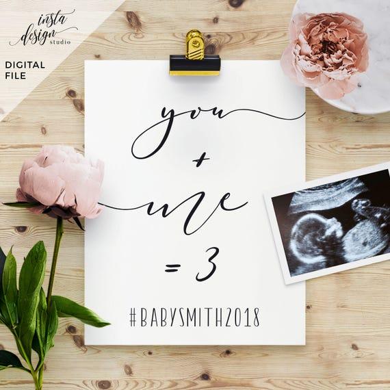 custom social media pregnancy baby announcement template. Black Bedroom Furniture Sets. Home Design Ideas