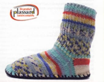 Kit soles plassard T38/39 to knit your slippers or booties