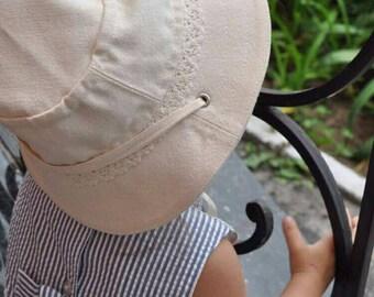 Beige cotton lace hat beach bucket summer hat for women kids toddler panama hat sun hat bonnet helmet a sun cap