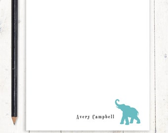 personalized notePAD - ELEPHANT - stationery - stationary - animal notepad - letter writing paper