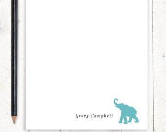 personalized notePAD - ELEPHANT - stationery - stationary - animal notepad - letter writing paper