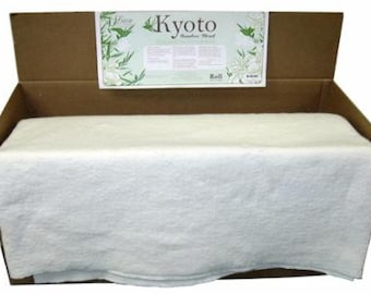 KYOTO bamboo blend batting ... bamboo, cotton blend quilt batting ... natural ... made in the USA