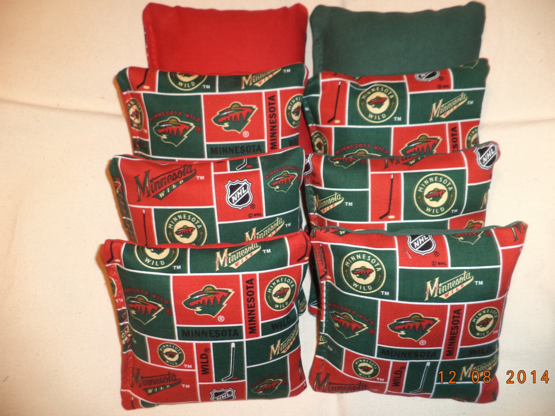 Cornhole Bags Minnesota Wild Hockey 8 Bean Tailgate Toss
