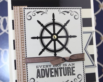 Birthday Nautical Cards, Masculine Birthday Cards, Sailing Card, Anchor Cards, Handmade Nautical cards, Masculine Cards
