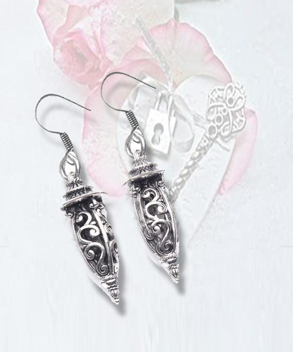 "EARRINGs-Open Work Silver ""Lantern"" - A  FAVORITE! *FREE SHIPPING & Discounts*"