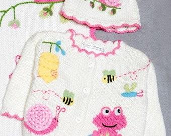 ArtWalk Be Hoppy Garden Friends Sweater and Hat