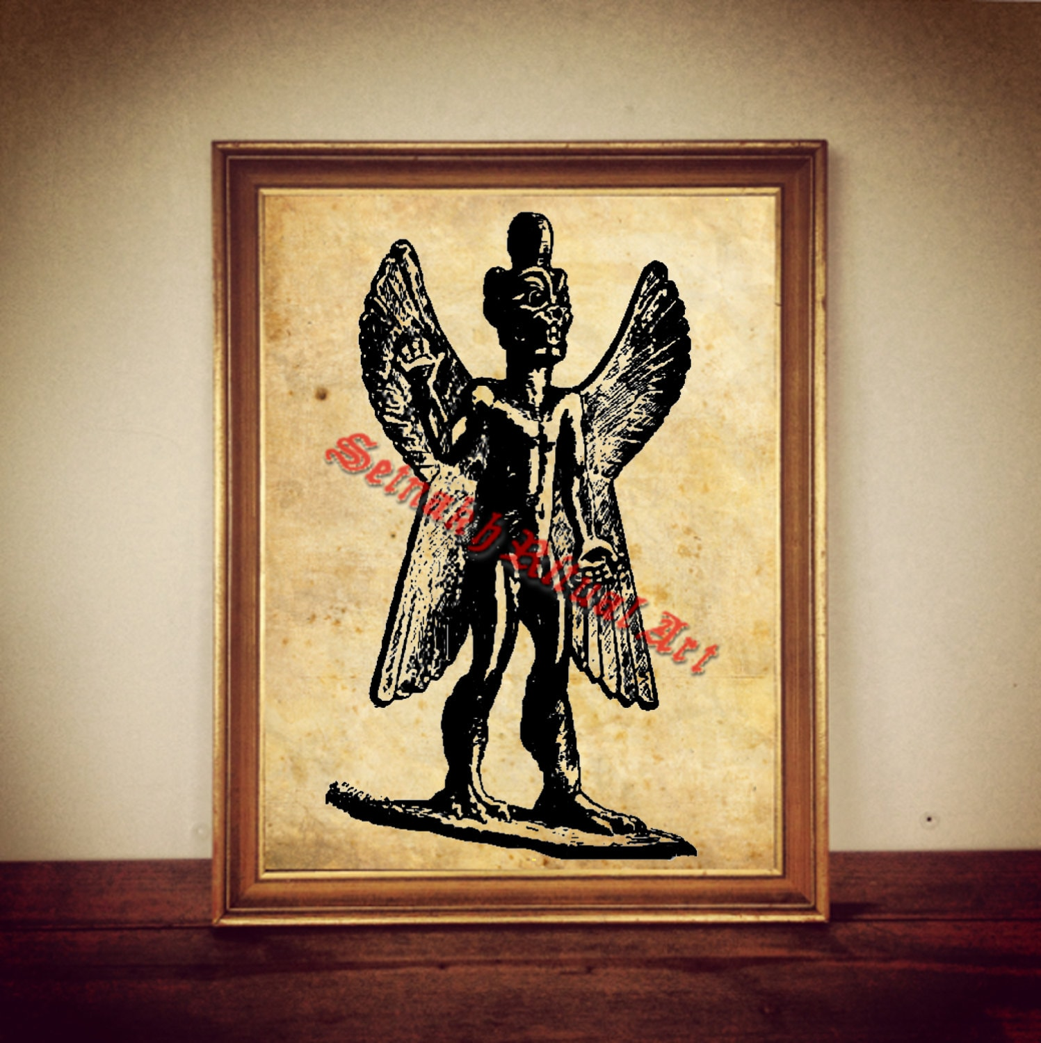 228 Pazuzu Print Babylonian Demon Illustration Pazuzu