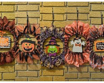 Halloween Holiday Ribbon Wreath