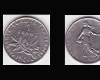 PIECE 1 FRANC - 1961 - (ref A42)