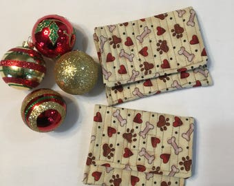 purse, credit card holder, coin purse, earbud holder, gift, Christmas gift, teacher gift, child, dog theme, pocket size