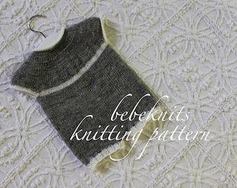 Bebeknits French Style Newborn Romper Knitting Pattern