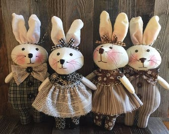 Primitive So Cute Bunnies