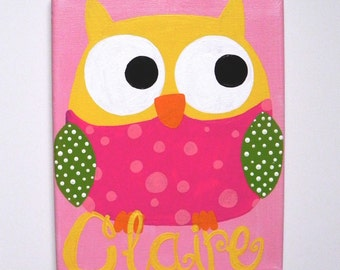 Personalized Owl Painting