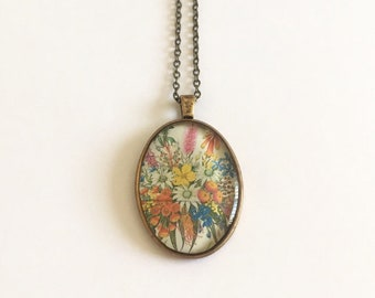 Thinking of You 1990 Postage Stamp Pendant