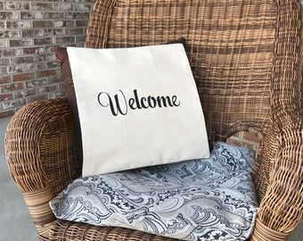 Monogram  Pillow Cover -Reserved for Maria