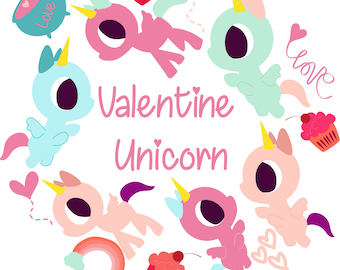 PNG-Einhorn-Clipart, digitale Clipart, Einhorn-Druck, Einhorn-Party, Liebe Clipart, niedliche Cliparts, digitaler Download, sofort-Download
