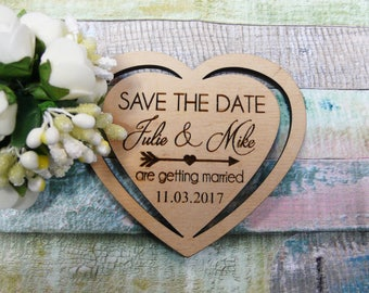 Wooden Save The Date Magnets Heart Save The Date Favor Wedding Tags Wedding Save The Date Card Wedding Favor Magnets Wooden Thank You Gift