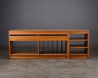 Vintage Convertible Wall Unit Media Stand Westnofa Danish Modern